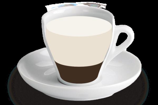 Tallat curt de cafè o llàgrima<br><small><em>Poc cafè i molta llet</em></small>