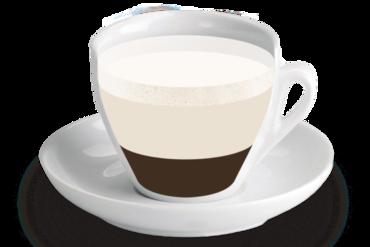 Cafe-Latte<br><small><em>Cafè amb molta llet i una mica de llet emulsionada</em></small>
