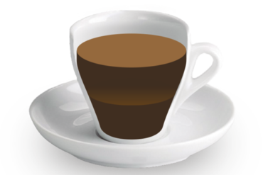 Cafè doble<br><small><em>Dos cafès en una tassa fets amb el cassó de dos cafès</em></small>