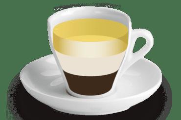 Trifàsic<br><small><em>Cafè amb poca llet i licor</em></small>