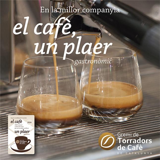 Bànner El cafè, un plaer. El cafè, un plaer gastronòmic.