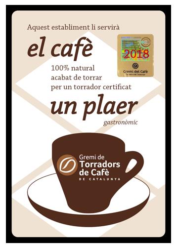 Placa campanya El cafè, un plaer, 2018