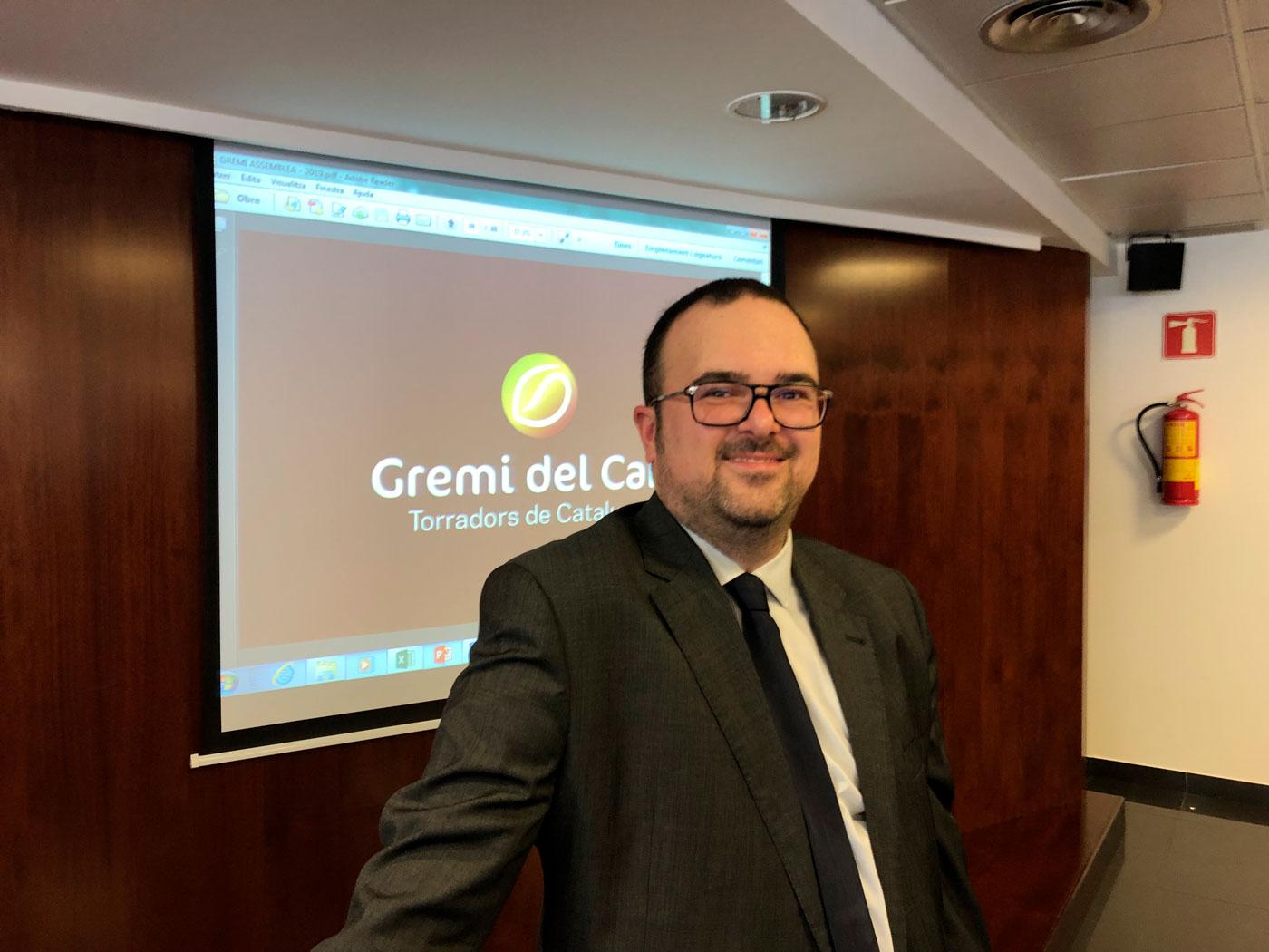 Xavier Tomàs a l'Assamblea del Gremi del Cafè, Torradors de Catalunya 2019