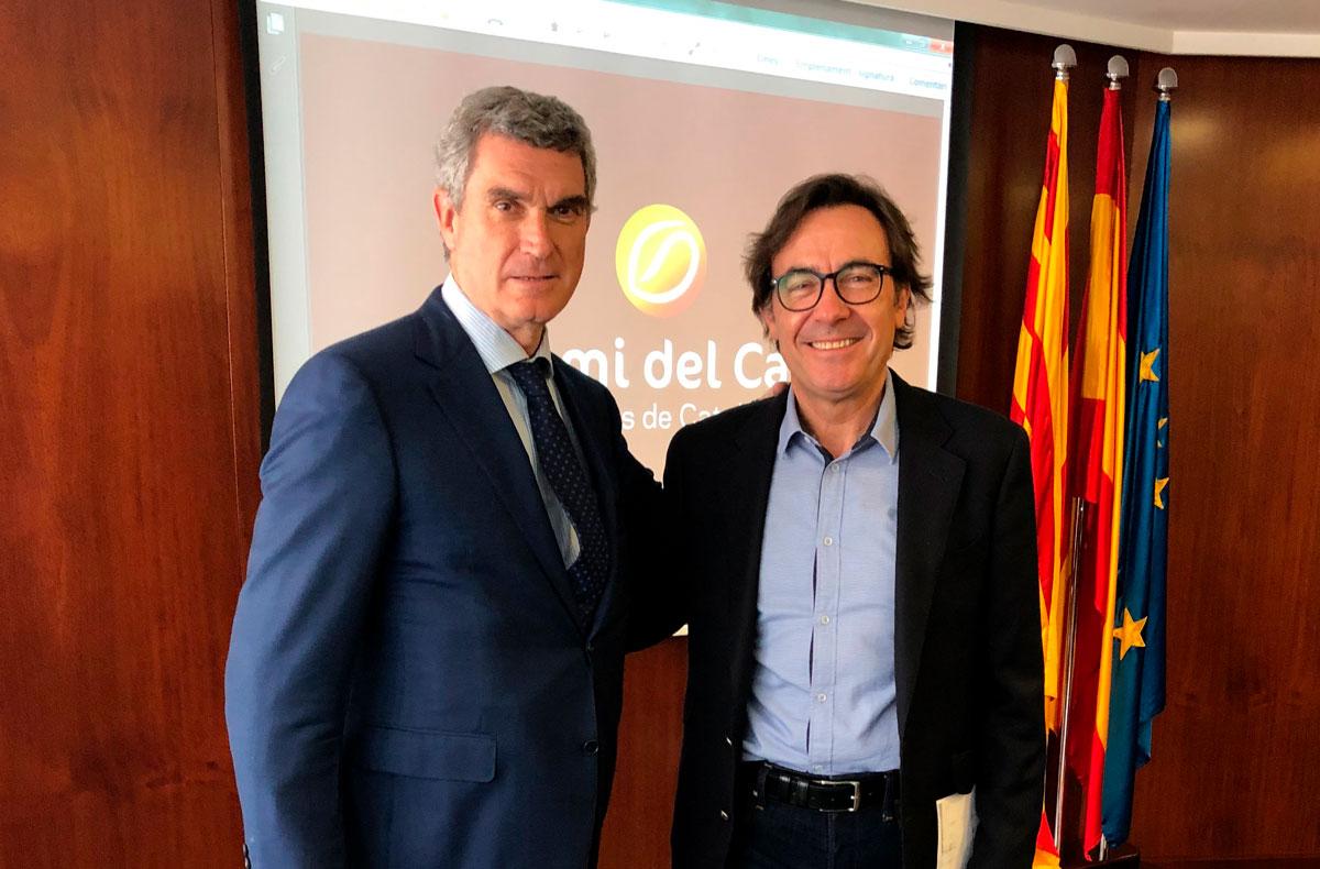 D'esquerra a dreta: Toni Riera i Lluís Saula.