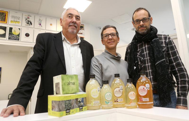Jordi Pou, d'Alma i Cofee Center; Núria Benet i Rogeli Gómez de Vitae Slow Drinks
